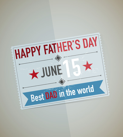 father s day: Father s Day Card Vector Illustration