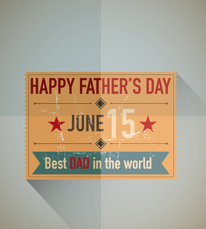 Father s day ticket Vector
