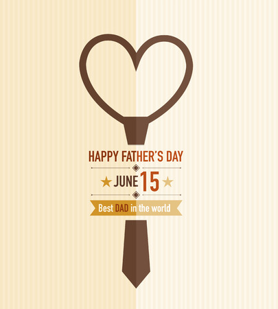 Father s day tie card Vector