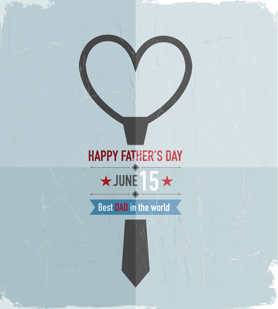 Happy Father s Day Tie Vector