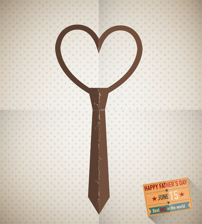 Father s day love tie Vector