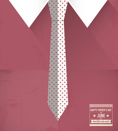 Father s day shirt and tie Vector