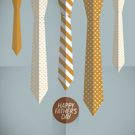 Vintage father ties template Vector