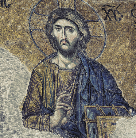 Jesus Christ Mosaic Closeup