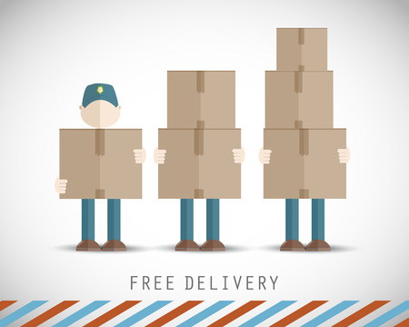 Delivery men with boxes