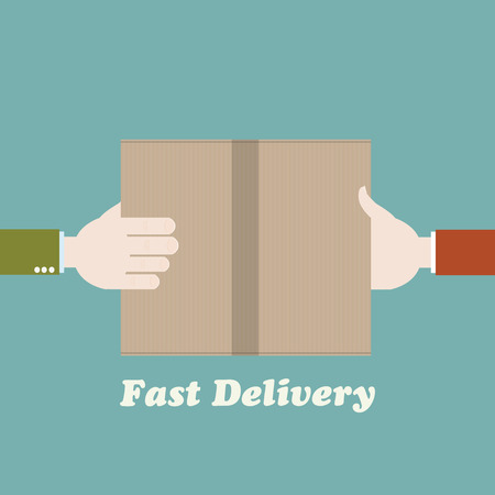 fast delivery: Courier fast delivery concept