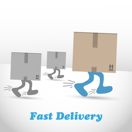 shipments: Logistic, shipments and fast delivery boxes Illustration