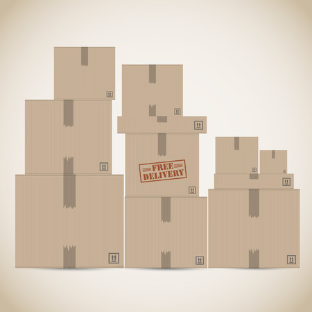 warehouse storage: Free delivery warehouse Illustration