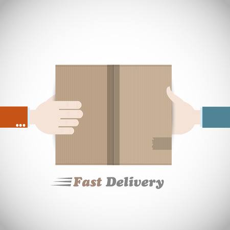 fast delivery: Fast delivery courier Illustration