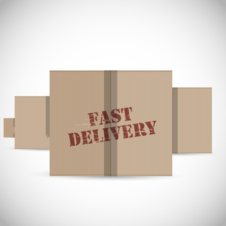 fast delivery: Fast delivery cardboard boxes background