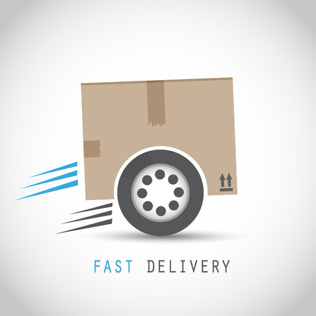 fast delivery: Fast delivery box with tire
