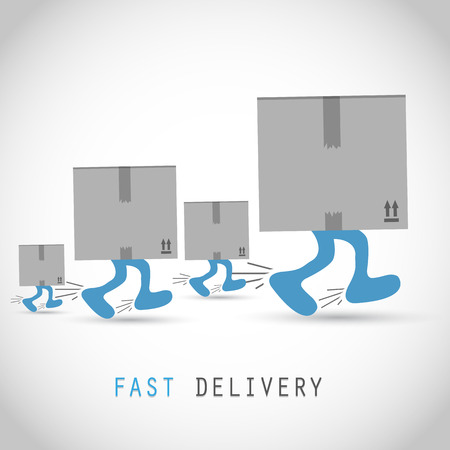 shipments: Shipments and free delivery boxes Illustration