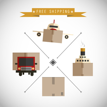 Free shipping carriers background Vector