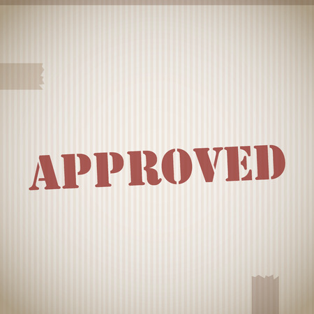 approved stamp: Bollo approvato vettoriale