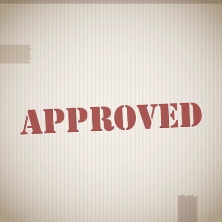 tampon approuv�: Vecteur de timbre approuv�