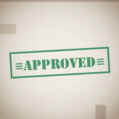 approving: Approved stamp