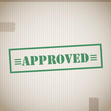 approved stamp: Sello de aprobado Vectores