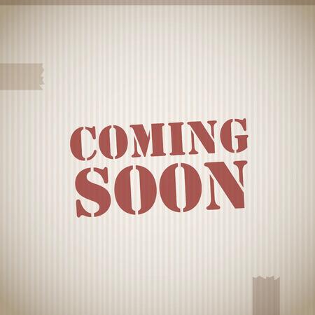soon: Coming soon stempel Stock Illustratie