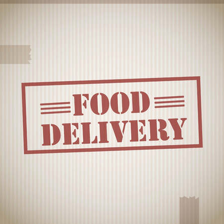 Food delivery stamp Vector