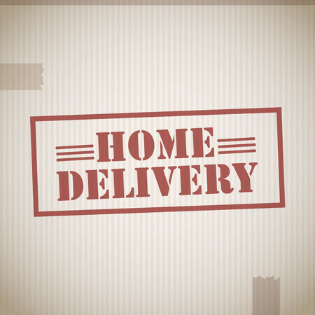 Home delivery stamp Vector