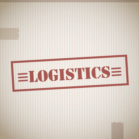 Logistics stamp Vector