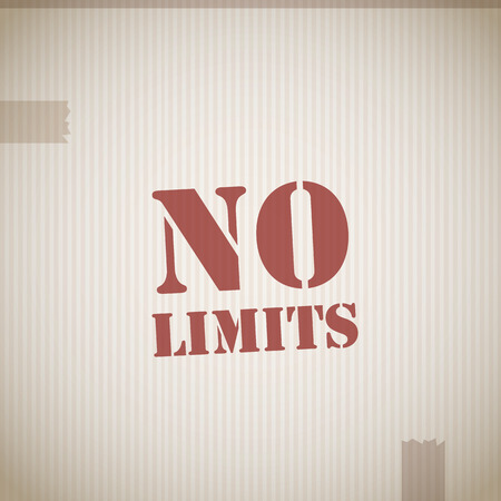 no boundaries: No limits stamp Illustration