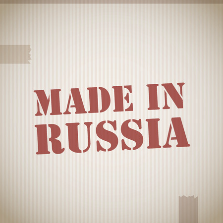 made in russia: Made in russia stamp