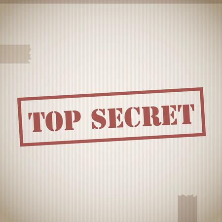Top secret stamp vector Vector