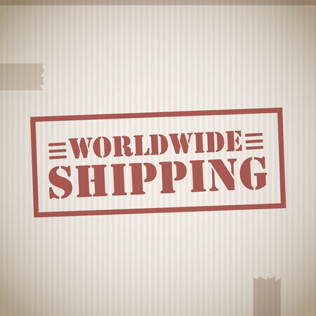 Worldwide shipping stamp Vector