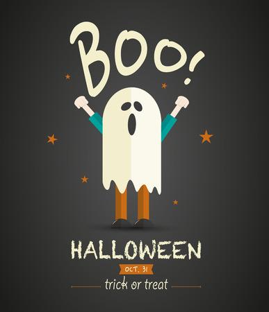 Spooky Halloween Children Vector