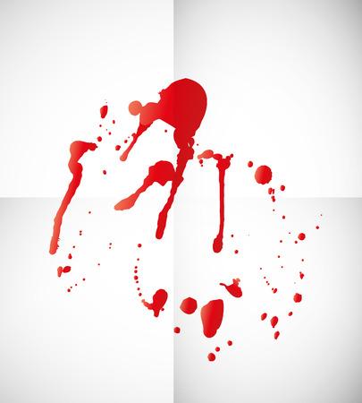 blutspritzer: Blut Splatter auf Papier