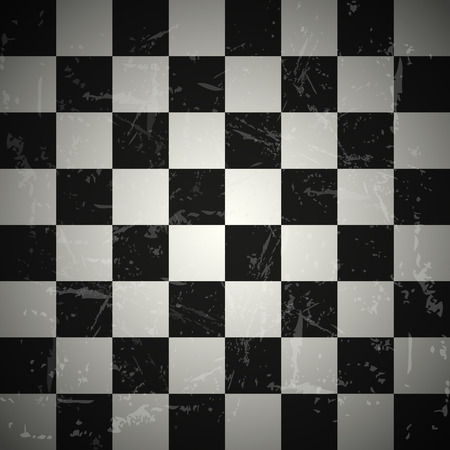 checked flag: Grunge chessboard background