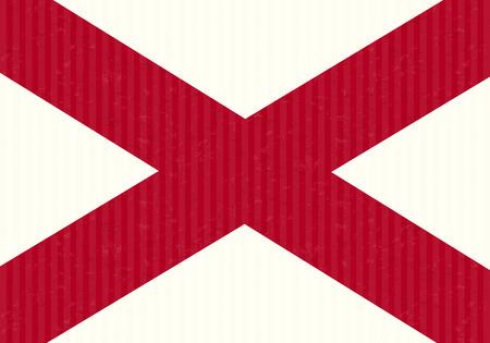 alabama flag: Alabama flag cardboard