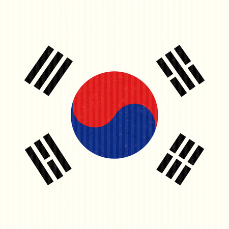 south korea flag: South Korea Flag Illustration