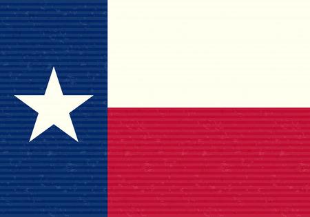 Texas Flag Grunge Background Vector
