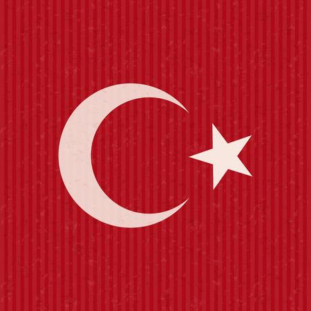 red flag up: Turkish flag grunge