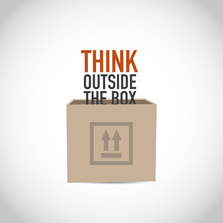 inventive: Think outside the box vector
