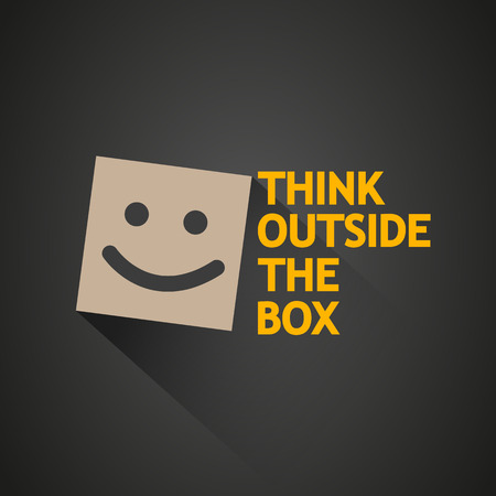 think out of box: think outside the box concept