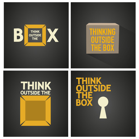 think outside the box vector poster Vector