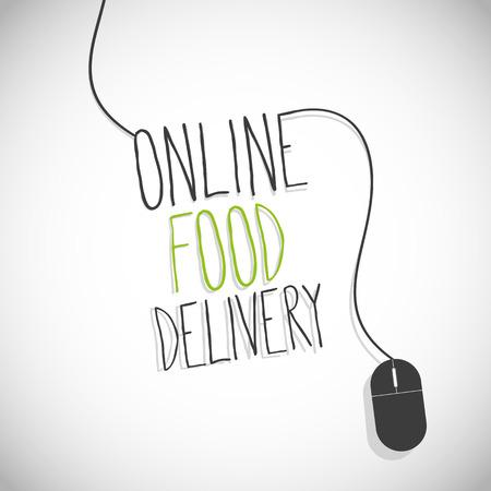 Online food delivery internet Ilustrace