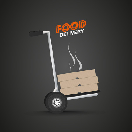 courier: Courier food delivery Illustration