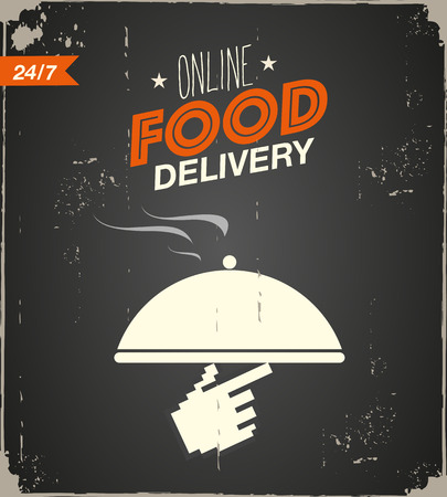 Online food delivery poster