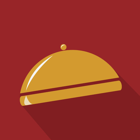 Gold restaurant cloche Illustration