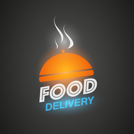 Courier food delivery concept Vectores