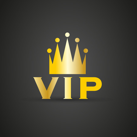 vip badge: VIP badge with crown Illustration