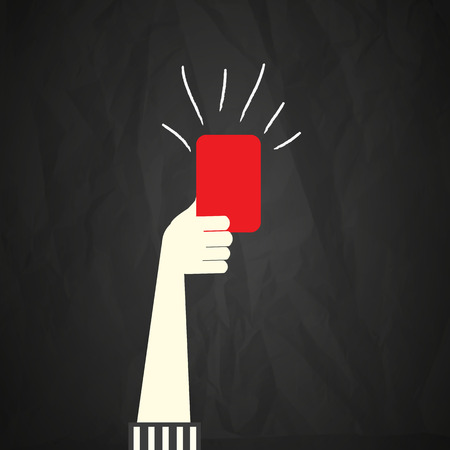 Red card Stock Illustratie