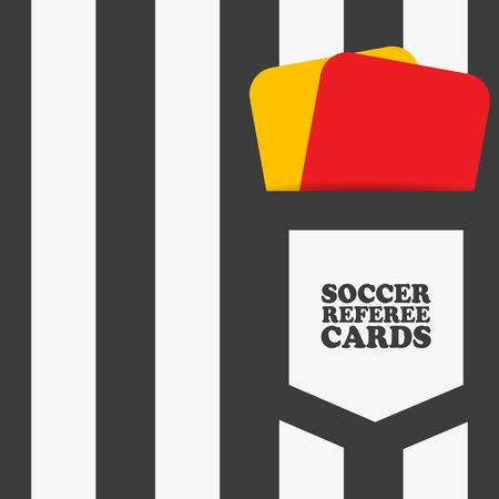 Football soccer referee Vector