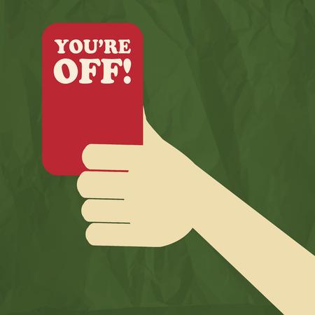 arbitro: �rbitro del f�tbol tarjeta roja