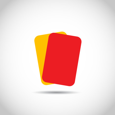 impartial: Soccer football red yellow cards