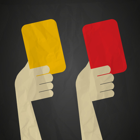 exclude: Referee red yellow cards Illustration
